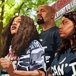 BLM Greater NYC: Nupol Kiazolu, Hawk and Chivonya Newsome by Ameya Okamoto
