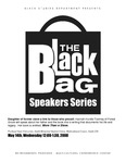 """More than a Slave,"" Hannah Hurdle-Toomey, the Black Bag Speakers Series, PSU, 2008"