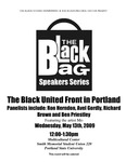 """The Black United Front"" - Part 1, the Black Bag Speakers Series, PSU, 2009 by Ron Herndon, Avel Gordly, Richard Brown, and Ben Priestley"