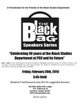 """""""Friends of Black Studies,"""" the Black Bag Speakers Series, PSU, 2010"""
