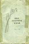 Culture Club, 1937-1938