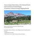 Socio-Ecological Interactions in the National Forests and Grasslands of Central Oregon: A Summary of Human Ecology Mapping Results