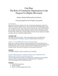 Unit Plan: The Role of Community Organizations in the Oregon Civil Rights Movement by Michael Gifford and Lance Erickson