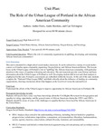 Unit Plan: The Role of the Urban League of Portland in the African American Community