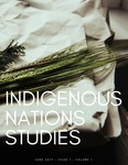 Indigenous Nations Studies Newsletter, Summer 2017