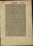 Mss. 7, Printed leaf from the first edition of the Policronycon in English by Ranulf Higden