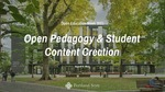 Open Education Week: Open Pedagogy and Student Content Creation