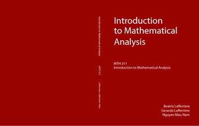 Introduction to Mathematical Analysis (First Edition)