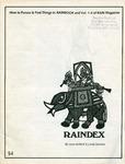 Raindex: How to Pursue and Find Things in RAINBOOK and Vol. 1-4 of RAIN Magazine by Lane deMoll and Linda Sawaya
