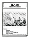 RAIN: A Monthly Bulletin Board