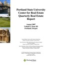 Center for Real Estate Quarterly, Volume 1, Number 3 by Portland State University. Center for Real Estate