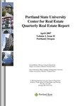 Center for Real Estate Quarterly, Volume 1, Number 2 by Portland State University. Center for Real Estate
