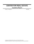 Center for Real Estate Quarterly, Volume 10, Number 4 by Portland State University. Center for Real Estate