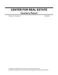 Center for Real Estate Quarterly, Volume 10, Number 4