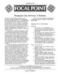 Focal Point, Volume 01 Number 03 by Portland State University. Regional Research Institute