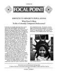 Focal Point, Volume 02 Number 04 by Portland State University. Regional Research Institute