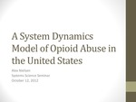System Dynamics Modeling of Prescription Opioid Pain Reliever Abuse