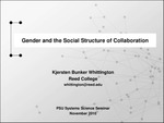Gender and the Social Structure of Collaboration