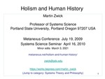 Holism and Human History by Martin Zwick