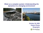 Water as a Complex System: Understanding the Dynamics in a Changing Environment by Heejun Chang