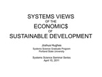 Systems Views of the Economics of Sustainable Development