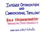 Integer Optimization and Computational Algebraic Topology