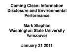 Information Disclosure and Environmental Performance