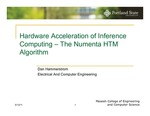 Hardware Acceleration of Inference Computing: The Numenta HTM Algorithm