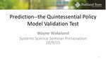 Prediction: The Quintessential Model Validation Test