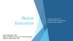 Realist Evaluation: A Systems Approach for Understanding and Assessing Complex Social Programs by Dora Raymaker