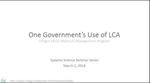 One Government's Use of LCA: An Introduction