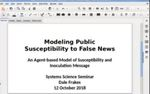 Modeling Public Susceptibility to Fake News