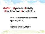 DASH: The Portland Region's Next-Generation Activity-Based Model