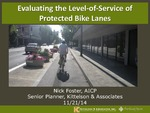 Evaluating the Level-of-Service of Protected Bike Lanes