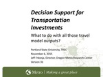 Model-Based Analytics and Processes for Transportation Investment Alternatives Analyses: From Least Cost Planning to Multi Criterion Evaluation