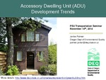 Accessory Dwelling Units in Portland, Oregon: Evaluation and Interpretation of a Survey of ADU Owners