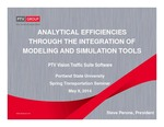 Analytical Efficiencies Through the Integration of Modeling and Simulation Tools