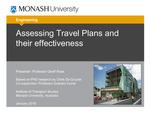Assessing Travel Plans for Residential Developments