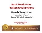 Transportation and Road Weather