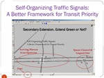 Self-Organizing Signals: A Better Framework for Transit Signal Priority