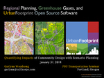 Regional Planning, Greenhouse Gases, and UrbanFootprint Open Source Software