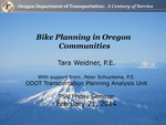 Bike Planning Methods in Oregon Communities