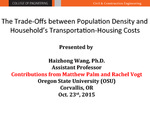 The Trade-offs between Population Density and Households' Transportation-housing Costs