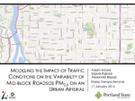 Modeling the Impact of Traffic Conditions on the Variability of Mid-Block Roadside PM2.5 on an Urban Arterial