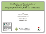 Identficaton and Characterization of Pollutant Hot Spots Integratng Probe Vehicle, Traffic and Land Use Data