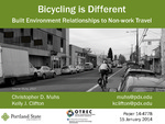 Bicycling Is Different: Built Environment Relationships to Nonwork Travel