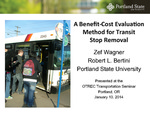 Benefit-Cost Evaluation Method for Transit Stop Removal