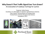 Why Doesn't That Traffic Signal Ever Turn Green? An Evaluation of Roadway Markings for Cyclists