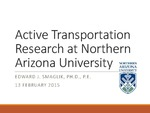 Active Transportation Research at Northern Arizona University