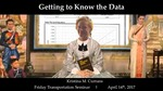Getting to Know the Data: Understanding Assumptions, Sensitivities, Uncertainty, and Being